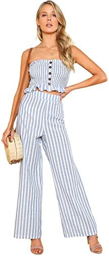Floerns Womens Strapless Pants Piece product image