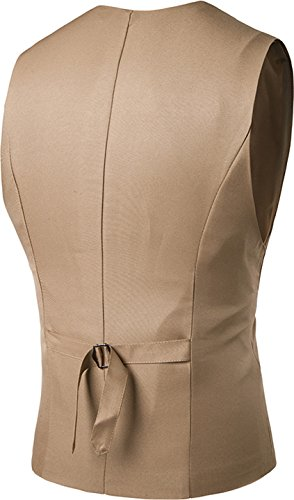 Sportides Men's Gilet Waistcoat Jza005 Jza003 Leisure Business Vest Gentleman Suits khaki Blazer qgrq1wp