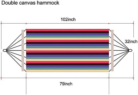 Aodoor Rayas Hamaca, 260 x 140 cm Carga de 200 kg,Hamaca colgante ...