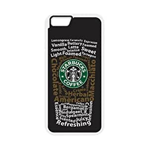 iPhone 6 Plus 5.5 Inch Cell Phone Case White Starbucks 4 Phone cover O7514319