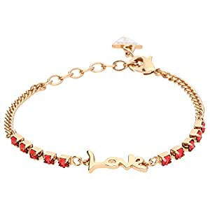 Guess Women Metal Bracelet Pink Gold and Pink Love - UBB61009-S