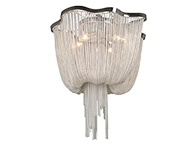 Avenue Lighting HF1403-CH Chrome Finished Flush Mount with Polish Chrome Chain Shades