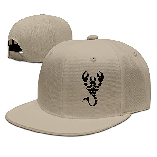 Tribal Scorpion Tattoos Hip Hop Cool Baseball Cap Snapback Hat Unisex Natural One (Tribal Scorpion Tattoo)
