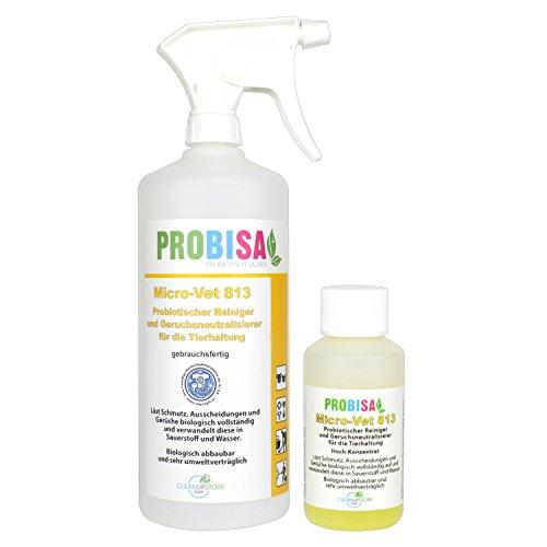 Geruchsneutralisierer Spray gegen Gerüche von Katzen-Urin, Hund & Nager Gerüche | 40ml Konzentrat ergibt 1-2 Liter gebrauchsfertigen Geruchskiller / Geruchsentferner / Bio Reiniger
