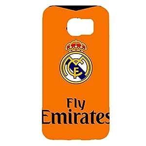 Real Madrid CF Classic Shirt Logo Nice Hard Plastic Phone Case for Samsung Galaxy S6