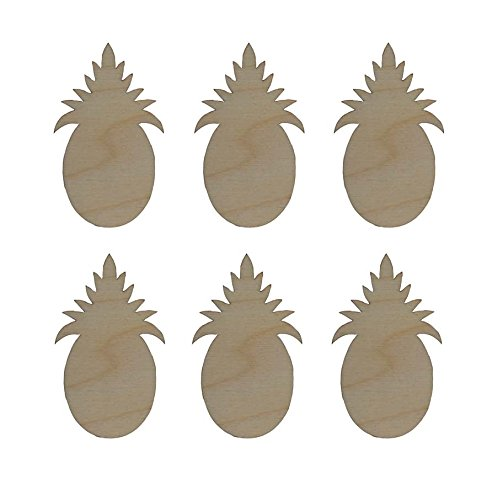 Pineapple Shape Unfinished Wood Cut Outs 2.5