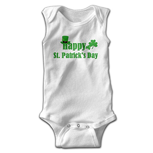 ROSE MAGEE Happy St.Patrick's Day Unisex Baby Sleeveless Boy's Infant Bodysuit Rompers Climbing Clothes Playsuit Outfits - Malls Utah Shopping