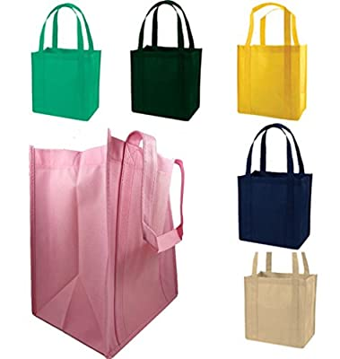 Durable Standard Size Eco Friendly Non Woven Grocery Shopping Tote Bags Book Bag Beach Art Craft School