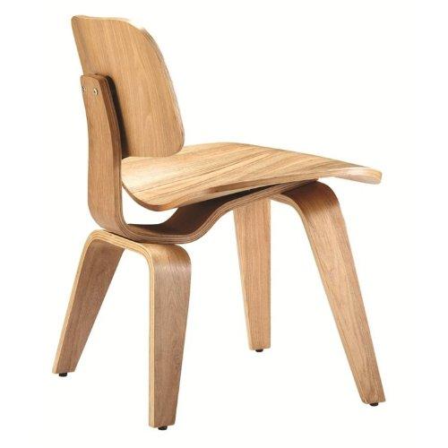Fine Mod Plywood Dining Chair, Walnut