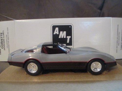 #6996EO Ertl/AMT 1982 Chevrolet,Silver/Dark Claret 1/25 Plastic Promo,Fully Assembled