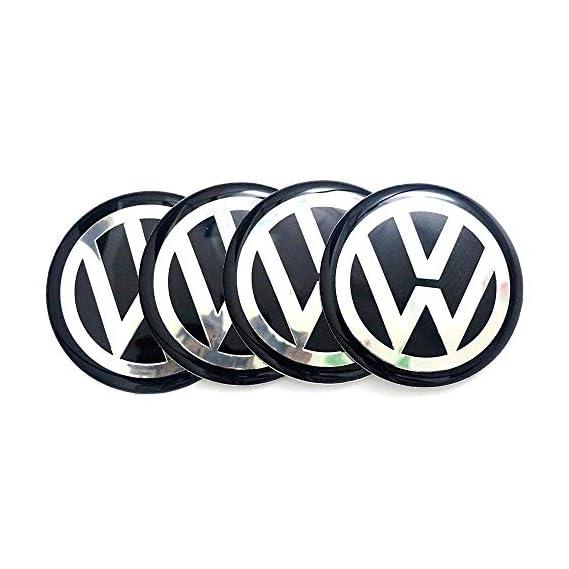 Careflection 3D Wheel Hub Sticker Silver Black Badge Emblem Sticker Decal for Volkswagen VWCar Bike SUV Mobile Laptop