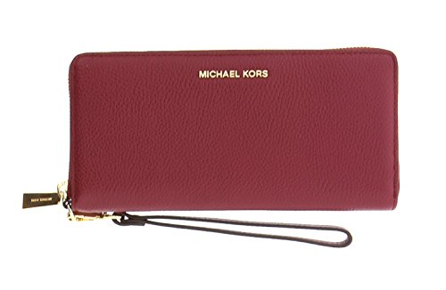 Michael Kors Money Pieces Travel Continental Mercer Pebble (Mulberry)