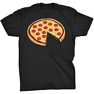 Pizza Matching Shirt Whole Pizza One Slice Missing – Front Print T Shirt For Men and Women