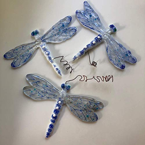 - Dragonfly suncatcher glass, Iridescent Garden Decor, Wedding Present