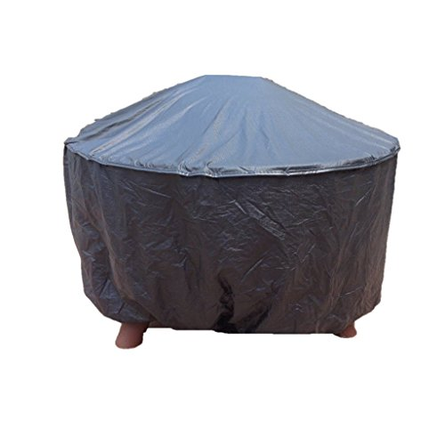 30 inch Round Fire Pit Cover 100% Embossed Vinyl from Patio Style Concepts