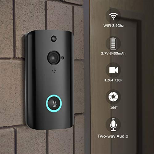 Thepass Video Doorbell Pro,M9 1080P Smart WIFI Security Doorbell Wireless Video Phone Camera Night Vision Nest Doorbell