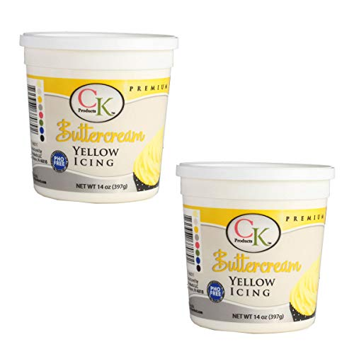 CK Products 14 oz Yellow Decorating Buttercream Icing, 2 Pack