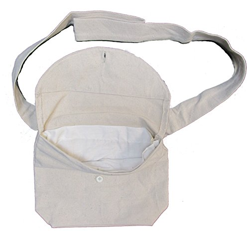 Military Uniform Supply Reproduction Civil War Haversack for Reenactors - Natural Canvas with Button Closure (Civil War Gear)