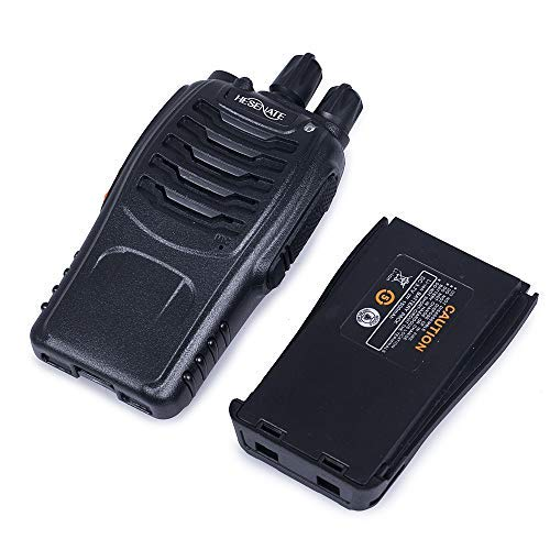 HESENATE HT-U666 Two Way Radio UHF Pack of 4 400-470MHz 16-Channel Rechargeable Professional Transceiver LED Flashlight Walkie Talkie
