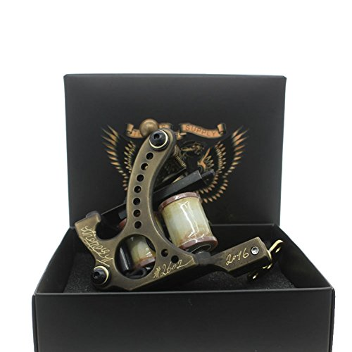 Price comparison product image Thomas Custom Coil Tattoo Machine Gun Handmade Frame 8 Wrap Coils for Liner