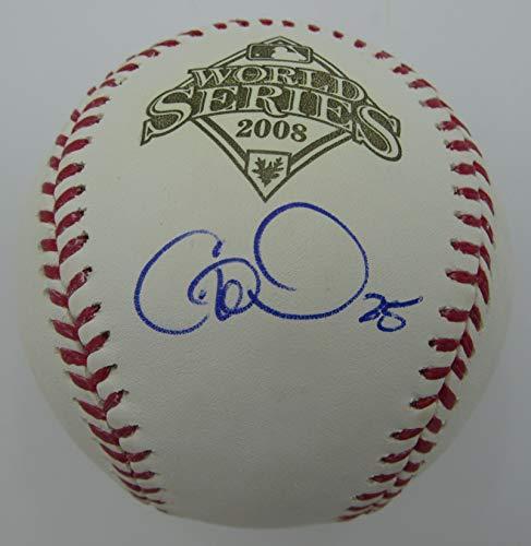 Cole Hamels Phillies Signed Rawlings 2008 World Series Baseball JSA 144388