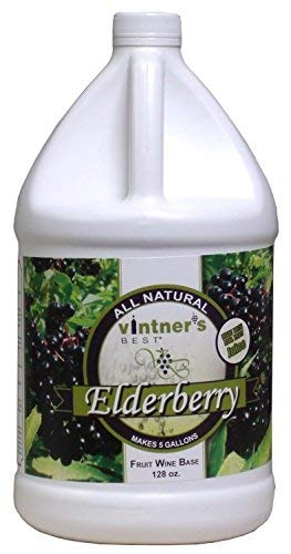 Vintner's Best Elderberry Fruit Wine Base 128 Oz (1 Galllon)