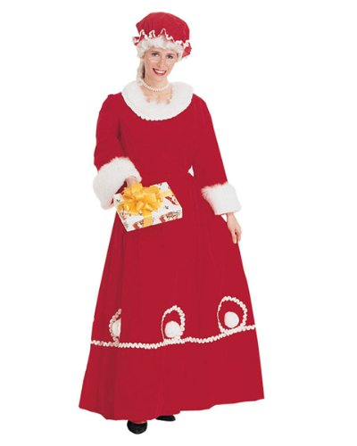 Mrs. Santa Costume Dress, White, Medium by Rubie's