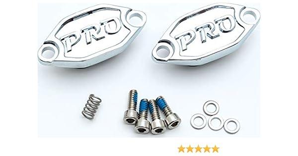 Silver Hose /& Stainless Blue Banjos Pro Braking PBK9042-SIL-BLU Front//Rear Braided Brake Line