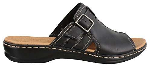 CLARKS Women's Leisa Gianna Dress Sandal, Black, 8.5 M US (Clarks Dress Sandals)