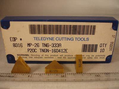(TNG 333A MP26 TELEDYNE Carbide Inserts (10pcs) 517)