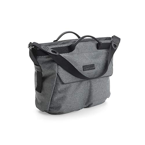 Bugaboo Bugaboo Changing Bag - Grey Melange - Convenient and Stylish Diaper Bag to Carry All of Your Essentials - Easily attaches to Bee5, Cameleon3, Fox and Buffalo Strollers, Grey Melange