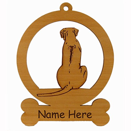 Rhodesian Ridgeback Kennel - Rhodesian Ridgeback Sitting Dog Ornament 083821 Personalized With Your Dog's Name