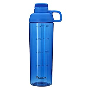 32 Ounce Water Bottle With Handle Wide Mouth Sports Bottle BPA Free Phthalate-free Twist Lid Water Bottle With Handle Leak Proof Made By Food Grade Tritan-Blue
