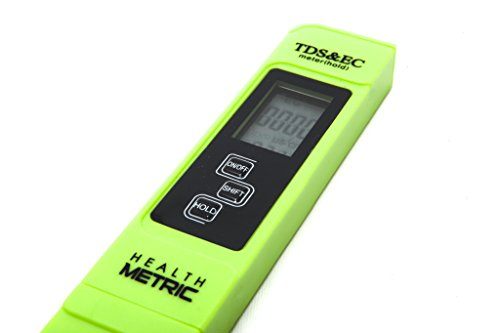 Professional TDS ppm Meter | Digital Test Pen Combines EC, TDS & Temp (3-in-1) | 0-9999 ppm & ± 2% Accuracy | Quick and Easy Testing For Hydroponics, Ro System, Pool, Aquarium, Spa and Water (Nutrient Meter)