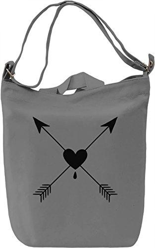 Arrowheart Borsa Giornaliera Canvas Canvas Day Bag| 100% Premium Cotton Canvas| DTG Printing|