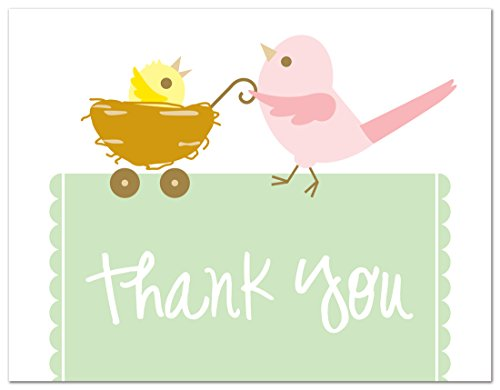 50 Cnt Mama Bird Chic Baby Shower Thank You Cards