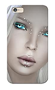 Trolleyscribe Ultra Slim Fit Hard Case Cover Specially Made For Iphone 6- Graphics Girls Face Hair Blonde Girl Glance