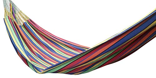 "Double (63"") Ethical, True Colombian Hammock. Rainbow - ETHICAL, STRONG, COMFORTABLE, TRUE COLOMBIAN HAMMOCK Sizes: 63"" X 102"", Length overal: 165"", Hold: 440lbs 100% soft colourfast cotton, MORE suspension strings, exceptionally tear-proof edges - patio-furniture, patio, hammocks - 41GDd3I oaL -"