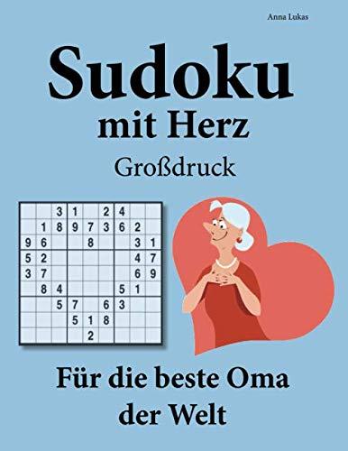 Sudoku Mit Herz   Großdruck   Für Die Beste Oma Der Welt