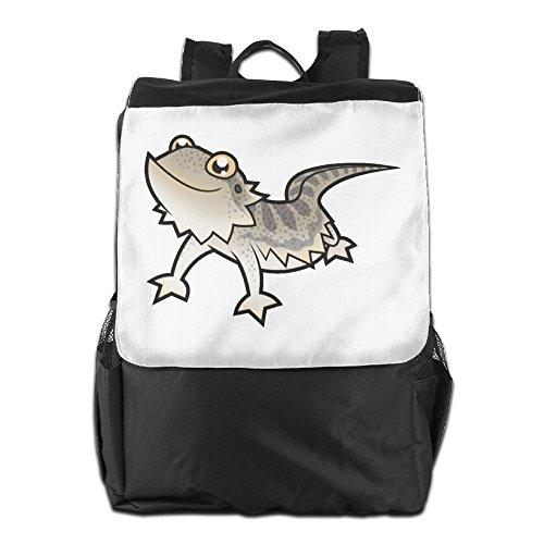 Bearded Dragon Costumes For Sale (SHUAIS Cartoon Bearded Dragon School Travel Laptop Shoulders Backpack Bag)