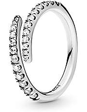 Pandora Women Silver Piercing Ring - 196353CZ-54 (7 US)