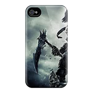 For Iphone 4/4s Premium Tpu Case Cover Darksiders 2 Death Mask Spit Bones Protective Case