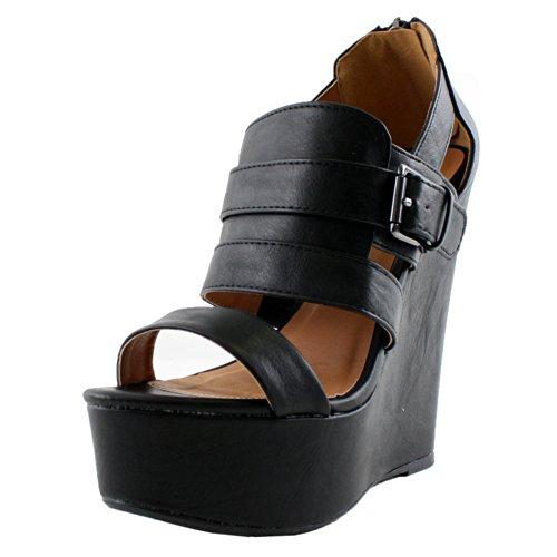 34d41fed31e0 Qupid Florence-12 Platform Sandals