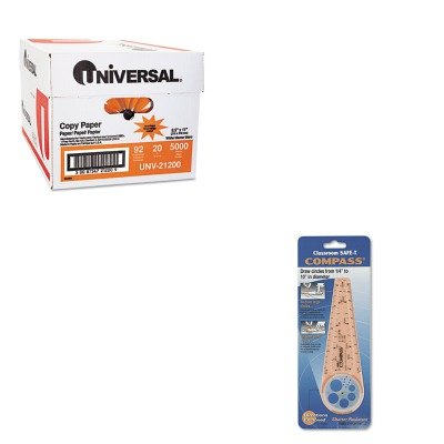 KITCSP45761UNV21200 - Value Kit - Classroom Safe-t Compass (CSP45761) and Universal Copy Paper (UNV21200)