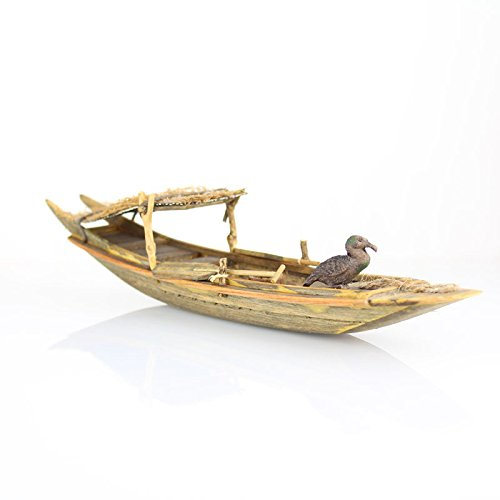- Onepin Wooden Wupeng Boat Model, Chinese Style Traditional Handmade Fishing Ship Fully Assembled Pre-Built Model Ship Wooden Gift (Not a Kit) (R8)