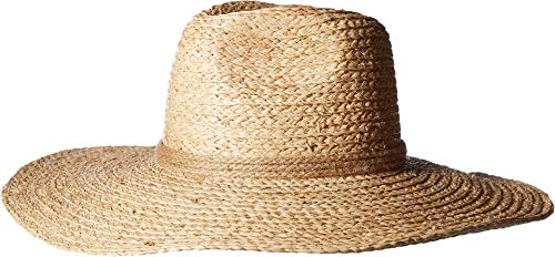 (Michael Stars Women's Lizz Wide Brim Fedora with Braided Band, Natural, One)