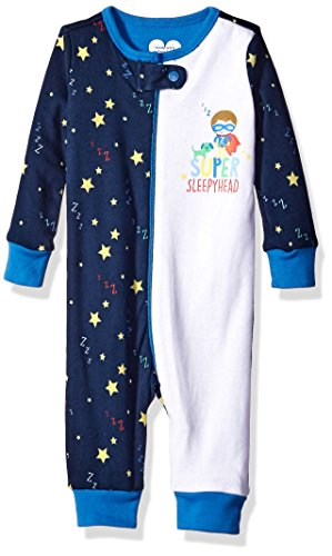 The Childrens Place Boys Stretchie Pajamas, Star/Tidal, 6-9 Months