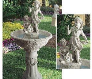 52'' Grande Classic Baby Birds Cherub Children Home Garden Sculpture Statue Fountain by XoticBrands Statue