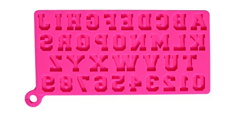 Silicone Alphabet Letter and Number Mold, Uppercase Letters and Numbers. Use with fondant, gum paste, chocolate, clay and candy.