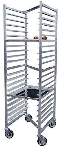 BK Resources BK-ABPRZ-1 Front Load Aluminum Commercial Welded Nestable Bun Pan Rack 20-1/4